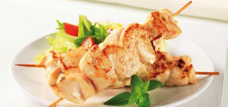 Pollo árabe troceado con yogur de menta