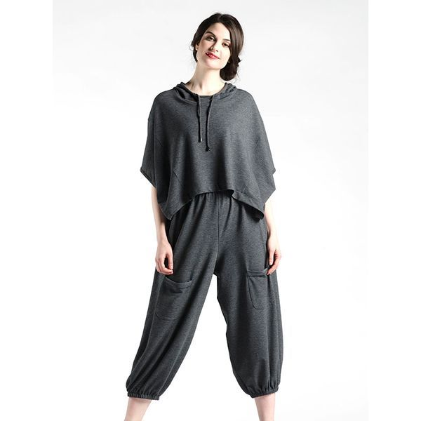 Athleisure Oversize Top in Grey