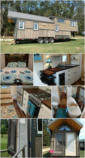 the lux 40 tiny house by hummingbird housing is a deluxe delight rh pinterest com 40 ft tiny house on wheels 40 feet tiny house