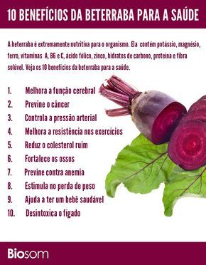 Clique na imagem e veja os 10 benefícios da beterraba para a saúde. #alimento #beterraba #infográfico #saúde #alimentaçãosaudavel #bemestar