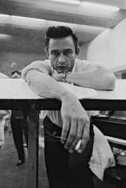 Young Johnny Cash Holding Cigarette