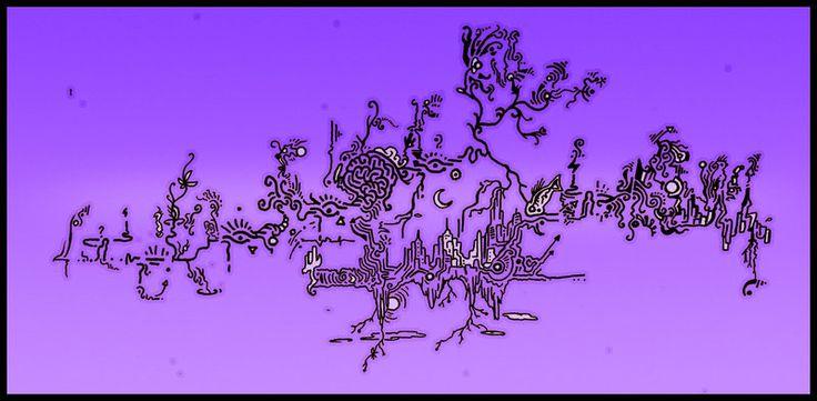 TRIP NEW UTOPIA acid purple by ACIDdrawings.deviantart.com