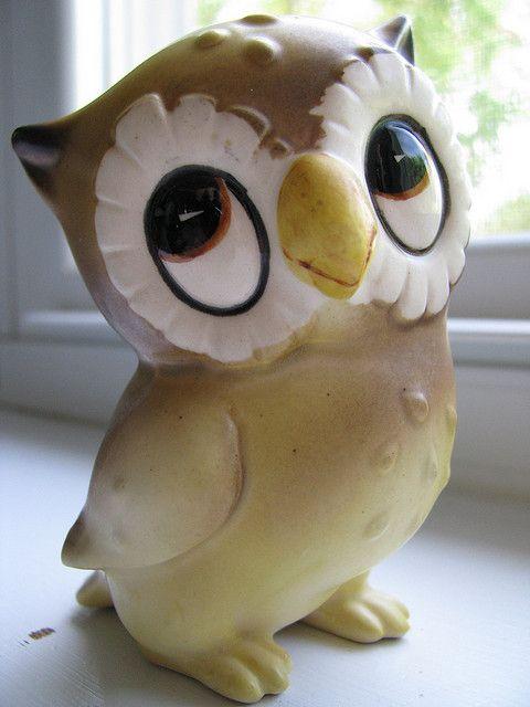 vintage owl figurine by buppins, via Flickr