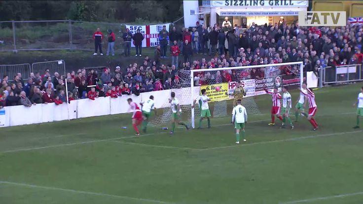 Stourbridge vs Biggleswade Town 4-1, FA Cup First Round Proper 2013-14 h...