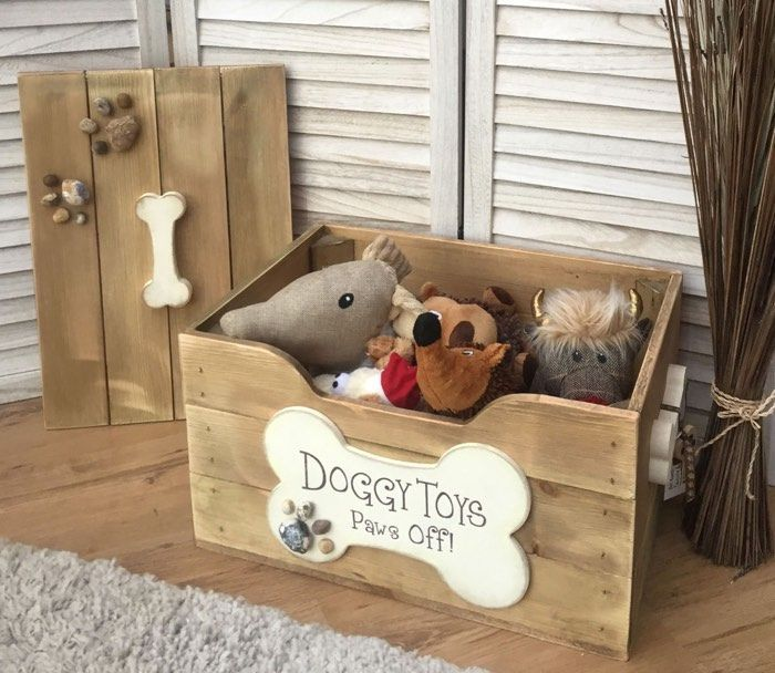 Wood Dog Toy Box Etsy Dog Toy Box Dog Toy Storage Wooden Dog Bed