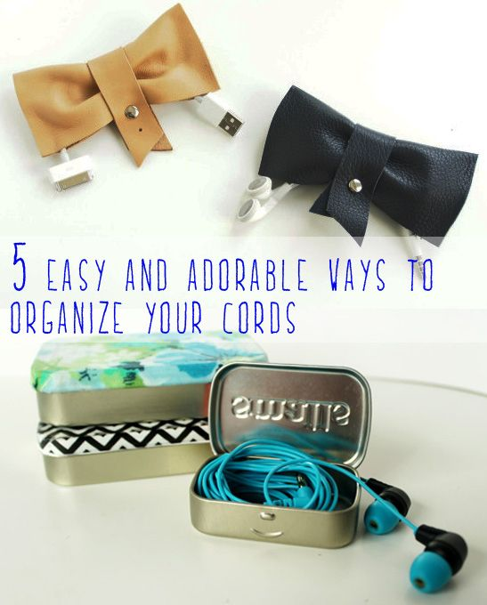5 Easy And Adorable Ways To Organize Your Cords - I really need to organize my earbuds. This is perfect!