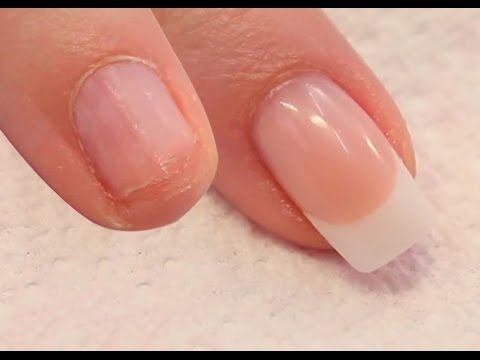 How to Apply Acrylic Nails on Short Bitten Nails - Tutorial Video by Naio Nails - YouTube