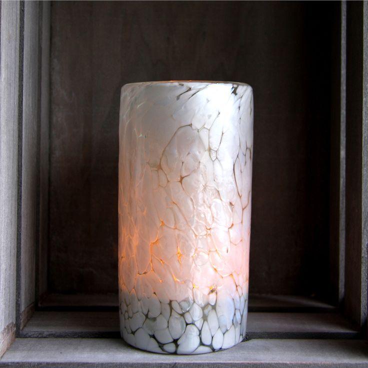 Nieve – Hand Blown, White, Minimalist Candle Holder