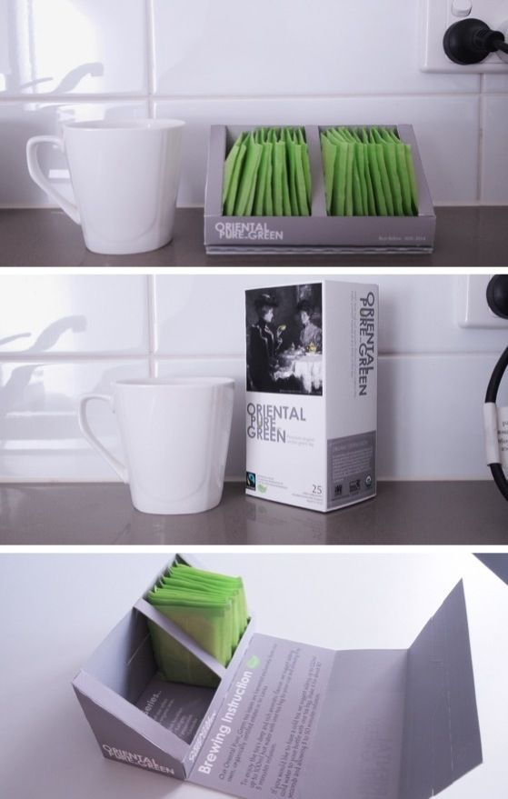 Clever tea caddy packaging design PD