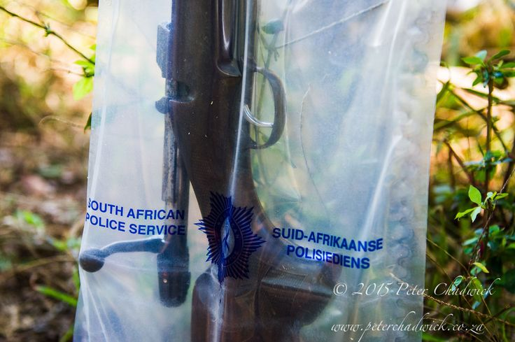 Poachers Rifle recovered by conservation rangers taken by Conservation Photographer Peter Chadwick