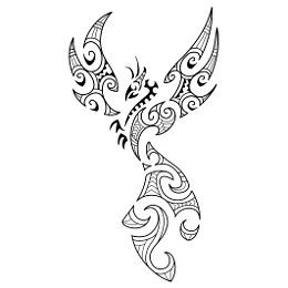 Maori style phoenix found at TattooTribes.com