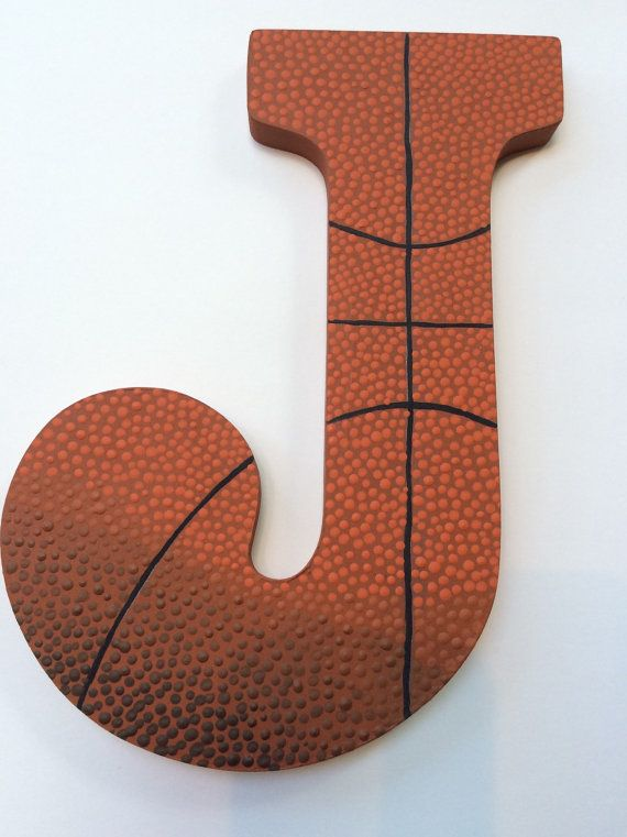 Sports Hand paintd Personalized Nursery / Children's / Kid's/ Teen's Room Decor Hanging Letters Basketball Theme
