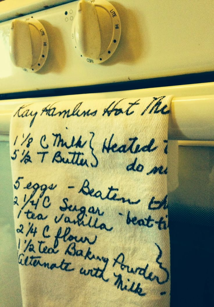 How To, How Hard, and How Much: Recipes on Tea Towels - Perfect for Mother's Day!