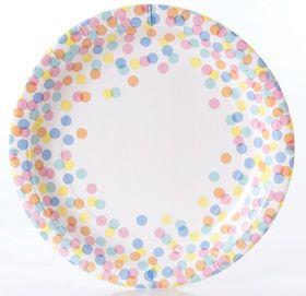 Confetti Paper Plates, Paper Plates & Bowls