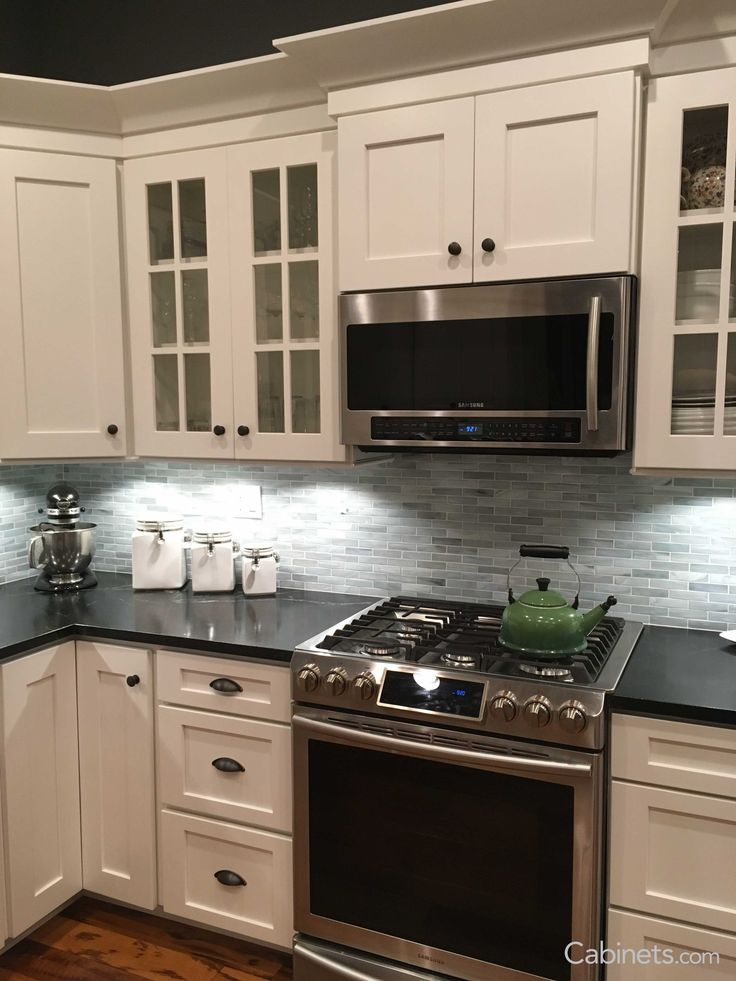 The picture features Shaker II Maple Bright White Cabinets. Shaker Kitchen  Cabinets are a timeless choice for your home! | Shaker Style Cabinets |  White ... - The Picture Features Shaker II Maple Bright White Cabinets. Shaker