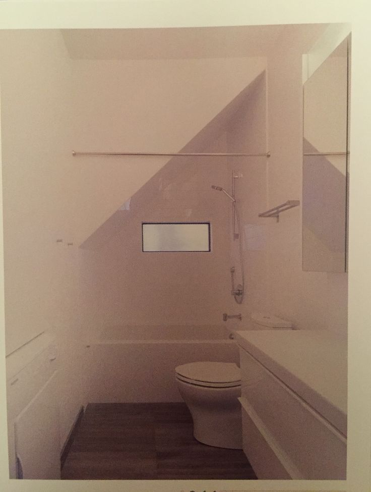 Shower space can be angled under stairs or with roof angle