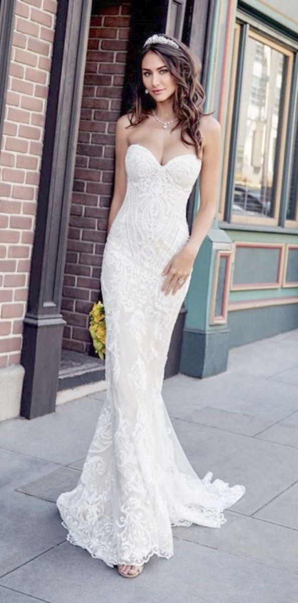 Lace Wedding Dresses Pnina Tornai A Line Wedding Dress With Lace
