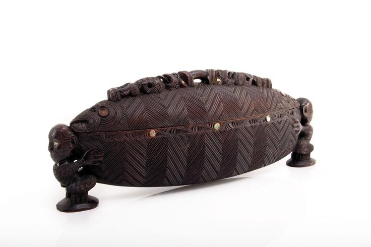 Waka huia by Tene Waitere C. 1853 - 1931, A Ngati Tarawhai Carver,