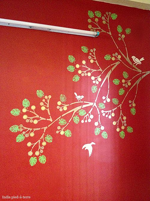 painting and stenciling in india stenciling paint walls and in india - Asian Paints Wall Design