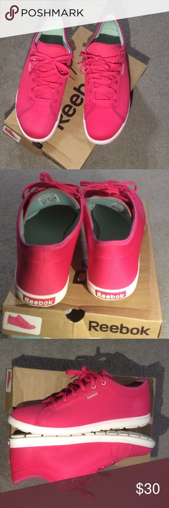 Reebok Skyscape Runaround  Pink Sneakers Reebok Skyscape pink sneakers in good good condition. Foam sneakers very very comfortable cushion walk. Make me an offer!!! Reebok Shoes Sneakers