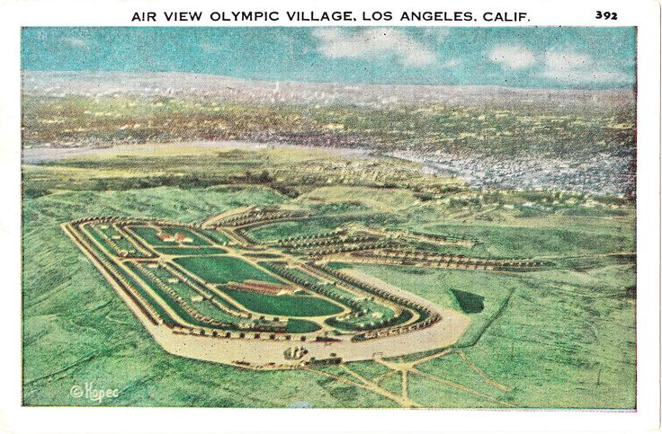 The 1932 Olympic Village: The male athletes occupied the village, built in the Baldwin Hills, while female athletes stayed at the Chapman Park Hotel on Wilshire Boulevard.
