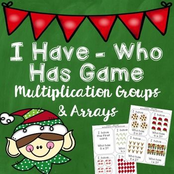 Free Christmas Multiplication Game - Great for Christmas math ideas - Covers equations, groups, and arrays!