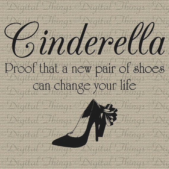 Uncommon Quotes That Can Change Your Life: Fairy Tales Cinderella Quote Inspirational Wall Decor Art