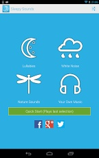 "Sleepy Sounds (Lullabies) app for android or White Noise Lite app : actually any white noise app is good.  i suggest apps over white noise toys and devices because you can install them on your cell or tablet and take them anywhere with you.  help baby sleep in the car?  yup!  the White Noise Lite app has an ""airplane engine"" noise to help baby get used to airplane noises before you travel!"