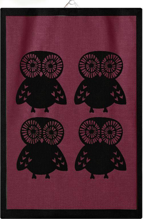Ekelund Pöllöt pyyheliina koko 35x50cm. 15,90€