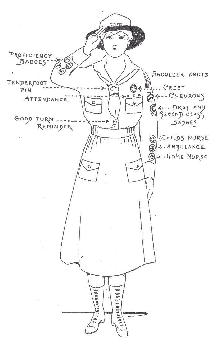 CadetteSenior girls uniform GSA Pfadfinderinnen Girlscouts