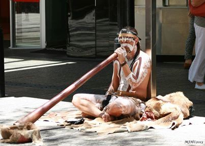 A 'didgeridoo' is one of the oldest musical instruments till date and originated among Australian aborigines. It consists of a long tube, without finger holes, through which the player blows. It is sometimes fitted with a mouthpiece of beeswax. Traditionally played by men, it is an accompaniment to ceremonial or recreational singing.