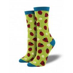Women's Ladybug Bamboo Socks