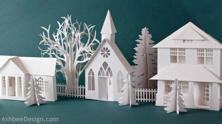 Country Chapel Silhouette Cutting file by Ashbee Design - Paper Village