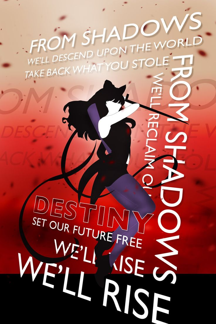 RWBY From Shadows Typography Poster Blake by OutlawRave.deviantart.com on @deviantART