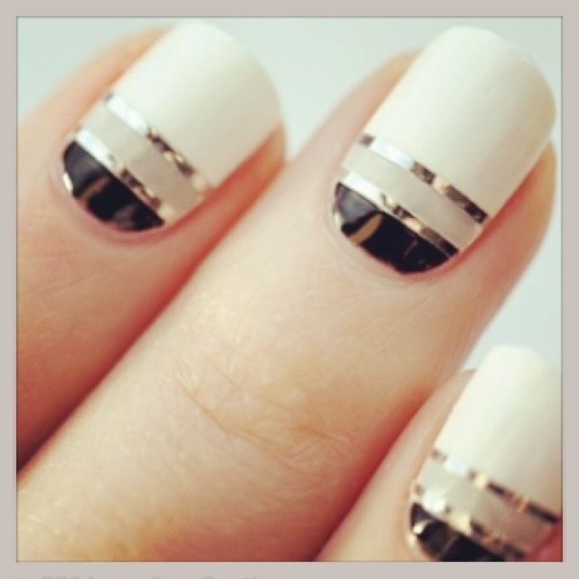 I don't know why but I like this. There's just something about it - 129 Best NAILS Images On Pinterest Make Up, Hairstyles And Style