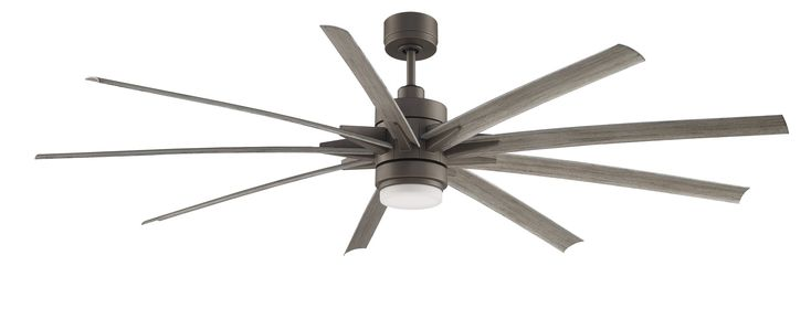 "84"" Odyn 9 Blade LED Ceiling Fan with Remote"