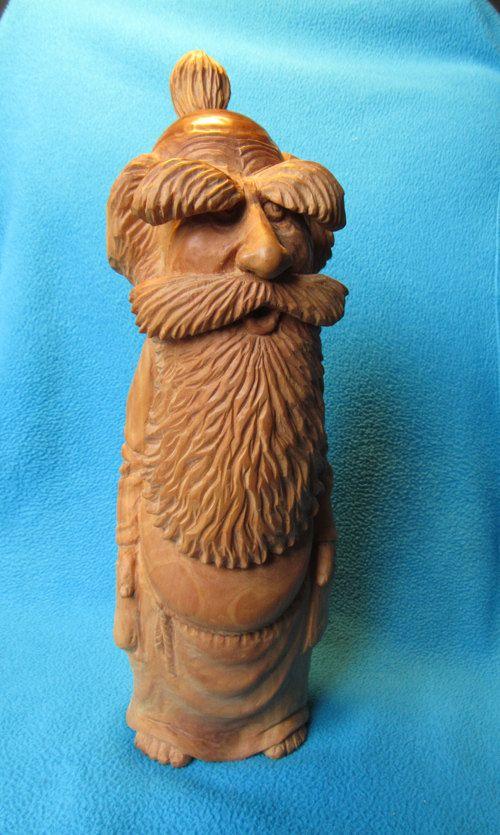 House Elf Wooden figurine hand carving by WoodSculptureLodge
