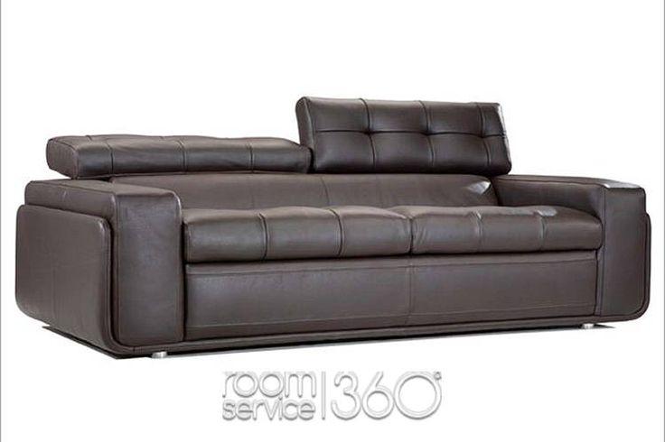 Hugo Contemporary Leather Sofa by Contempo
