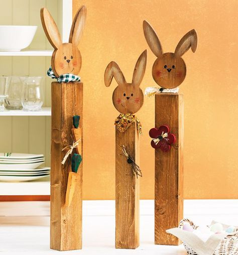 Poteau en bois décoré de façon décorative | Achetez des livres d'artisanat TOPP en ligne   – Ostern