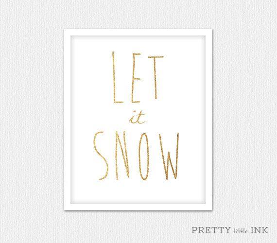 "Instant Download ""Let it Snow"" Christmas Decor"