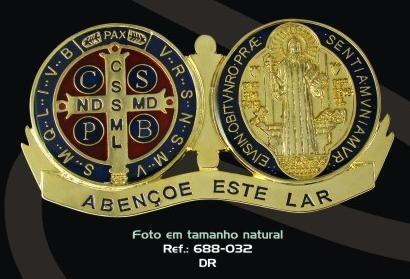 MEDALHÃO DEVOCIONÁRIO PORTA MEDALHA DE SÃO BENTO (RESINADO)