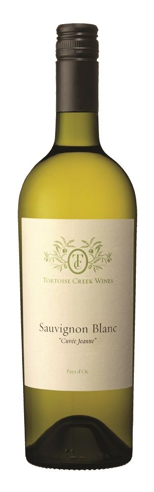 "Tortoise Creek Sauvignon Blanc has a pale, bright yellow color, with a very intense nose. It expresses all the flavors of Sauvignon Blanc, mixing together citrus fruit and black currant leaf. This wine will be best as an aperitif or with salads, seafood and softer cheeses.   ""Cuvée Jeanne"" refers to ""Janie's Blend""  http://www.winesellersltd.com/wine-brand/Tortoise%20Creek%20France.html"