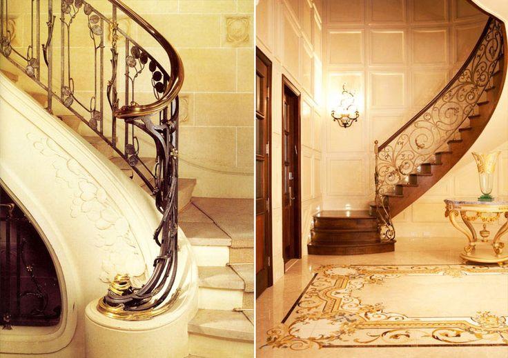 Художественная ковка лестниц  в стиле модерн. Стиль модерн в интерьере #дизайн_интерьера #интерьер #модерн #стиль_модерн