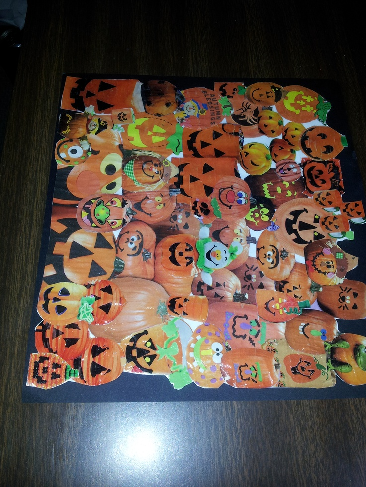gs 0343 series sample resume%0A Pumpkin collage using mod podge for senior Girl Scout Badge  I plan to use  this