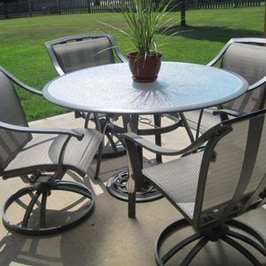 36 Round Outdoor Dining Table Set