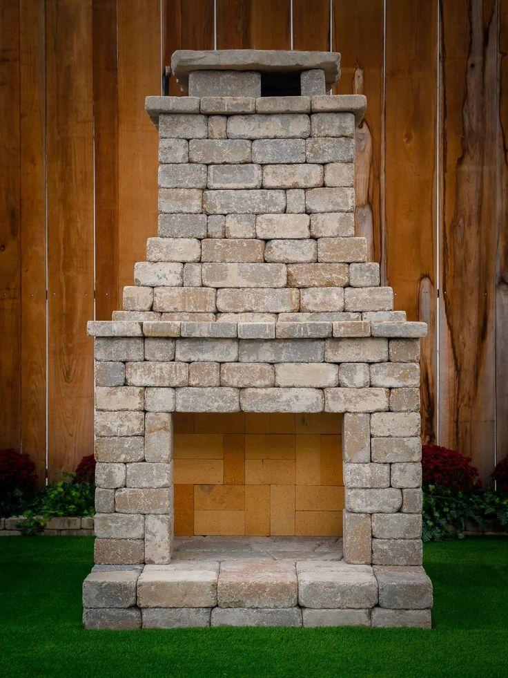 Diy outdoor fireplace kit fremont makes hardscaping