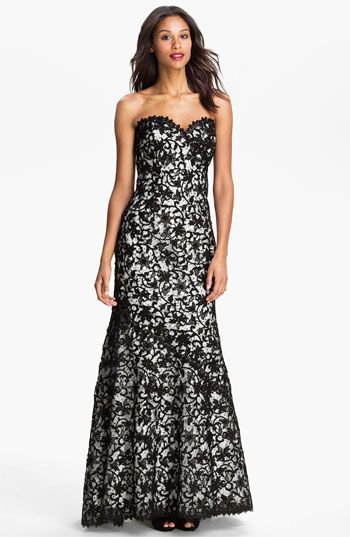 Veni Infantino Strapless Lace Trumpet Gown | Nordstrom