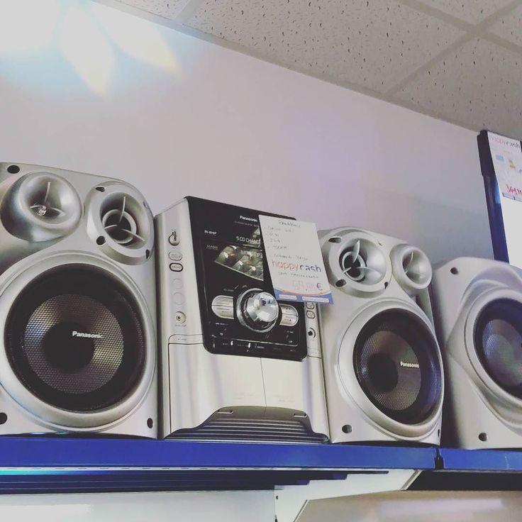 Chaîne hifi Panasonic SC DJ/tuner. Deux enceintes et caisson de basse !  #happycashlannion #bonsplans #bonnesaffaires #happytech22 #panasonic Dispo dans votre happycash Lannion depuis le May 09 2017 at 10:16AM