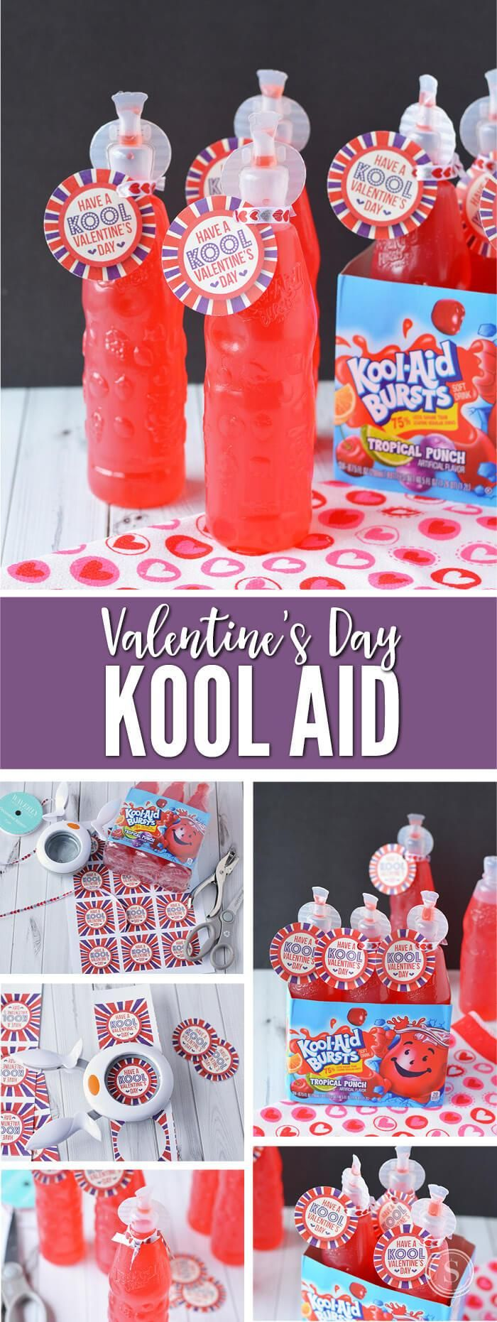 Every kid loves the sweet and tasty Kool-Aid juices! These Valentine's Day gifts are great for classrooms, where prepackaged foods are a must due to allergies and where kids need a drink after diving into all those sweet treats!