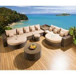luxury l shape conservatory garden sofa 11 seat mocha beige 24